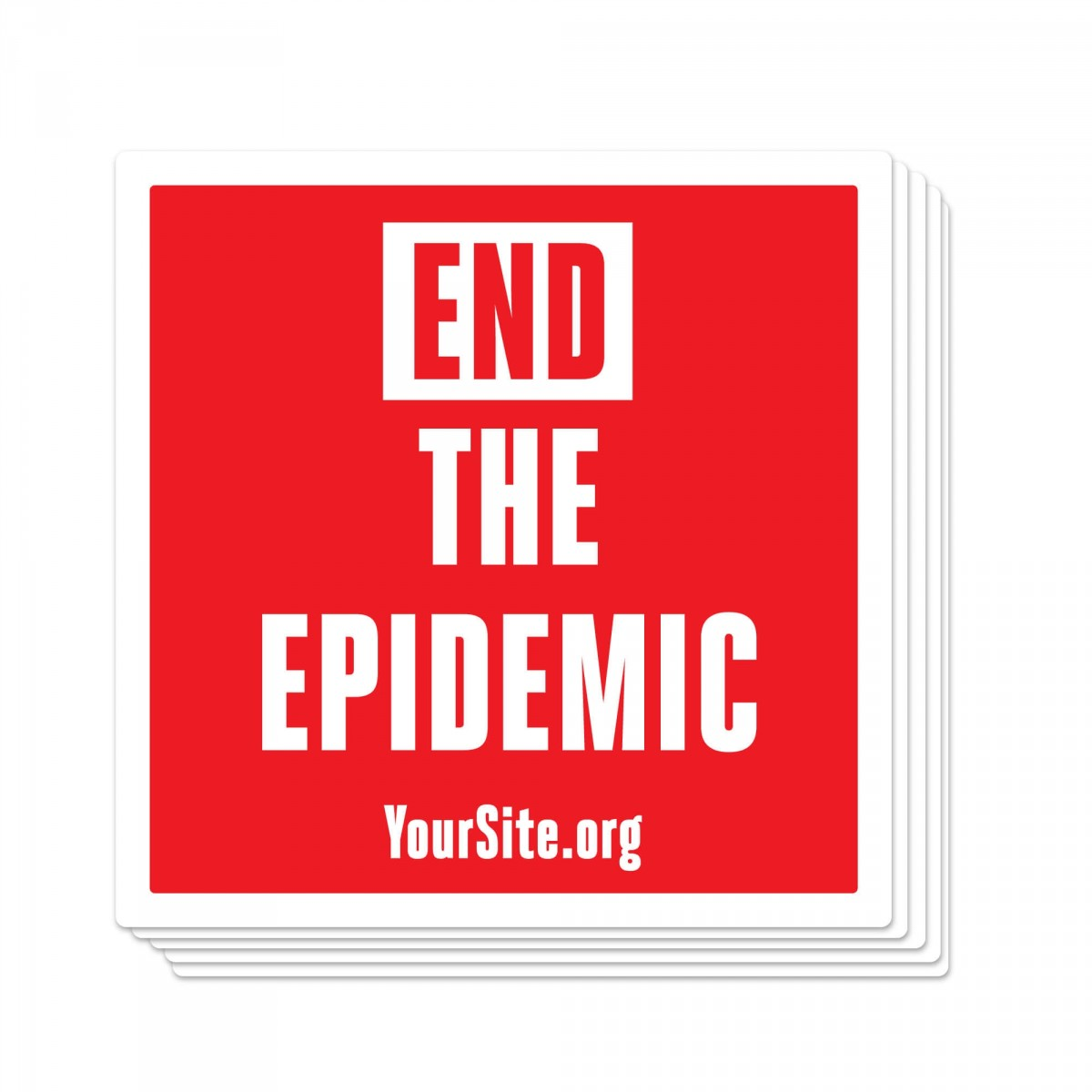 End The Epidemic Sticker