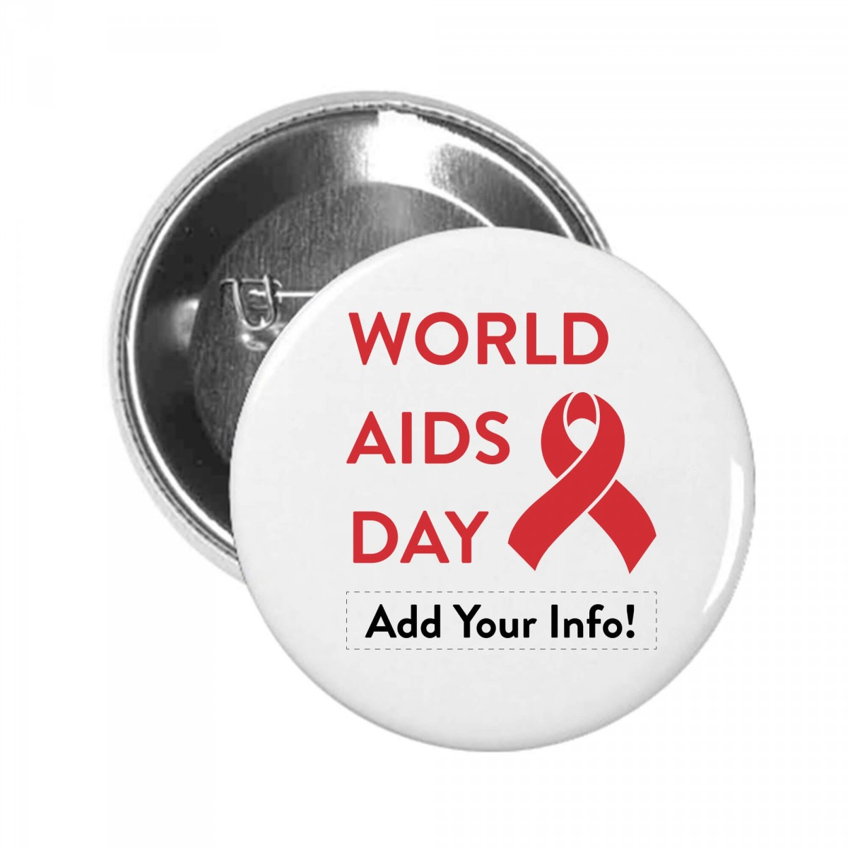 World AIDS Day Button Pin