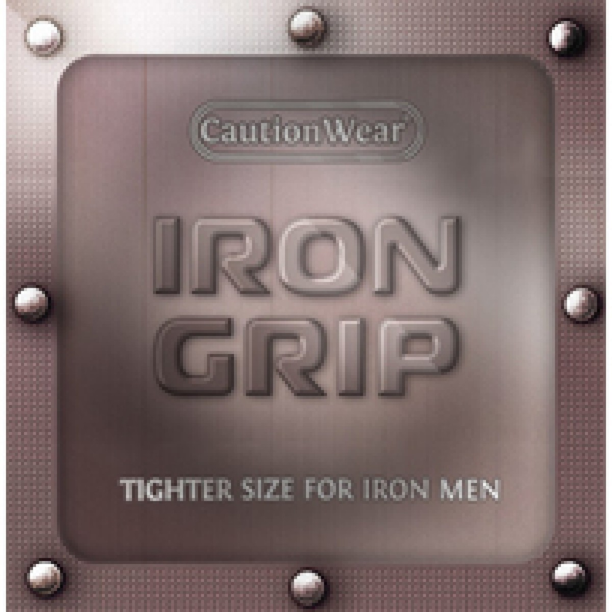 Caution Wear Iron Grip Condoms