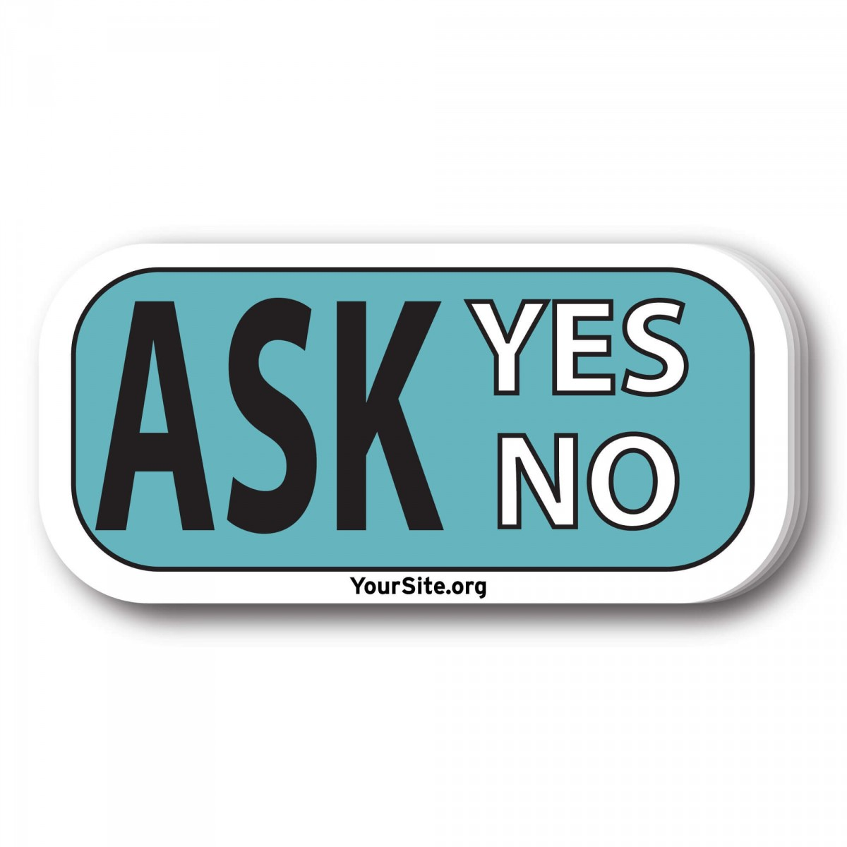 Ask Yes No Sticker