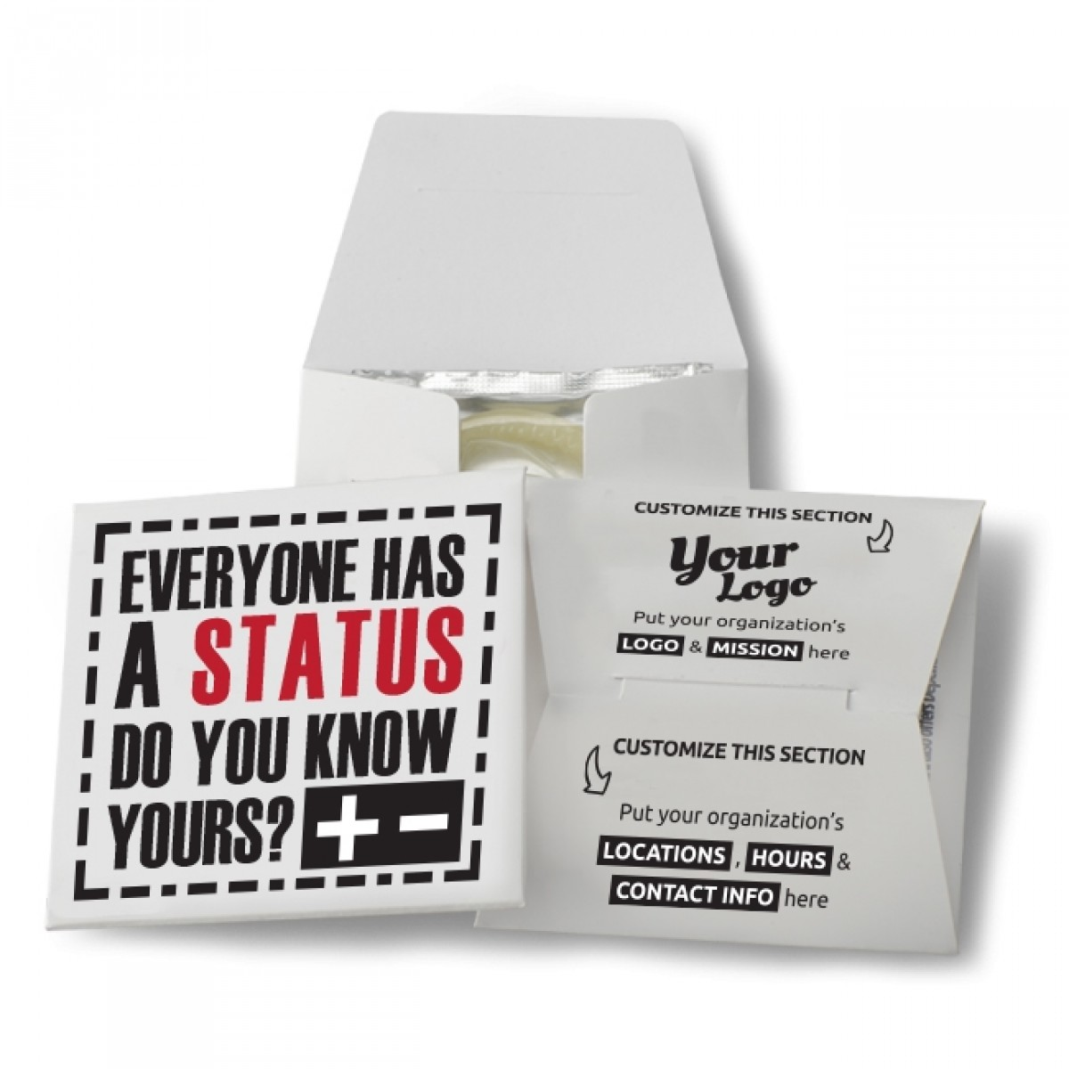 Everyone Has A Status, Do You Know Yours? Condom Wallet