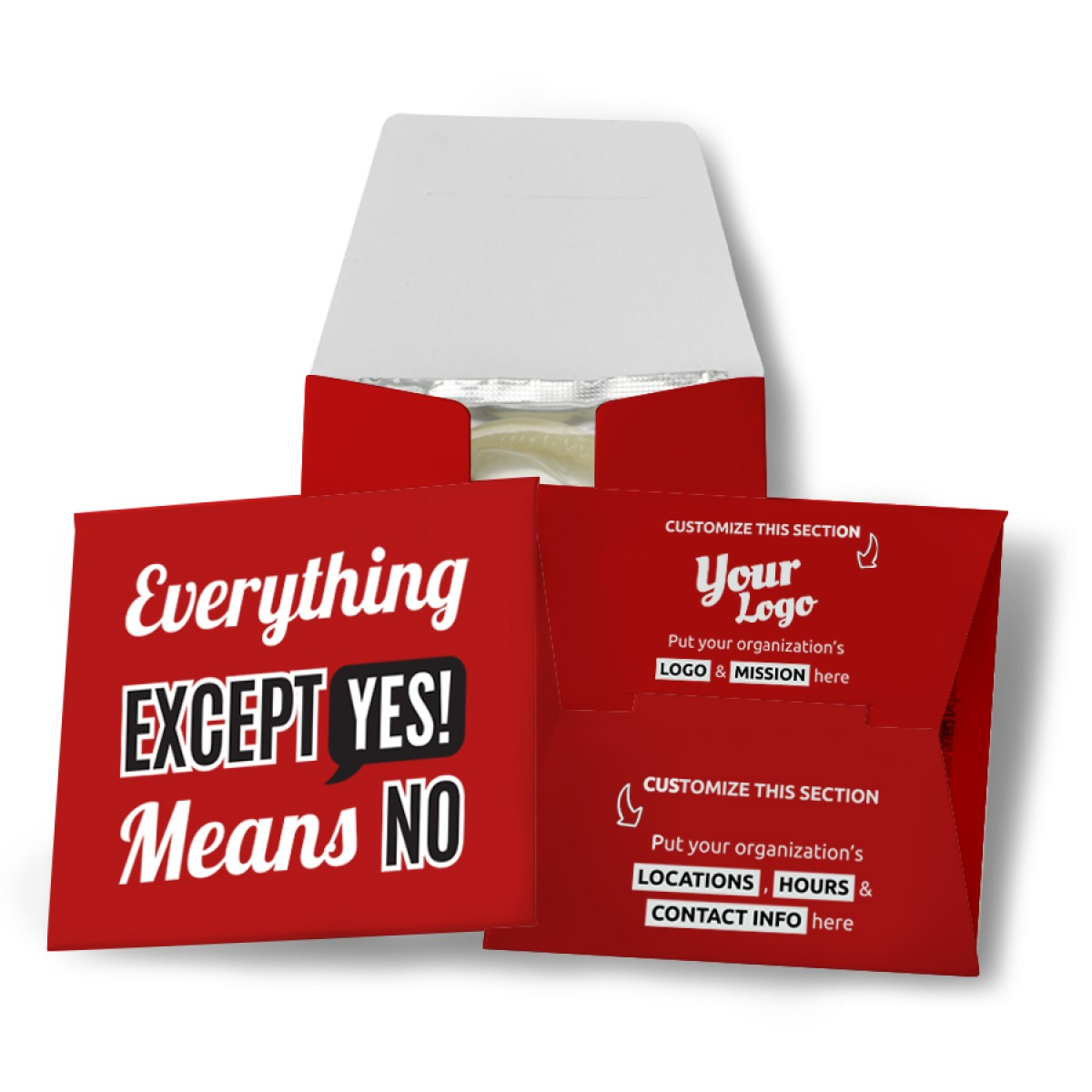 Everything Except Yes Means No Condom Wallet