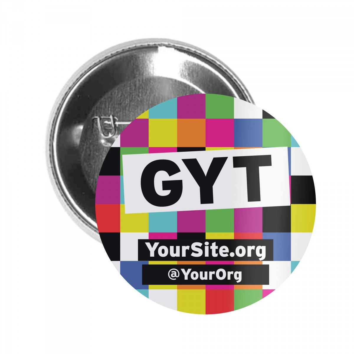 GYT Get Yourself Tested Button Pin
