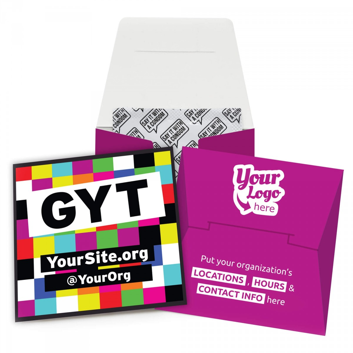 GYT Get Yourself Tested Condom Wallet