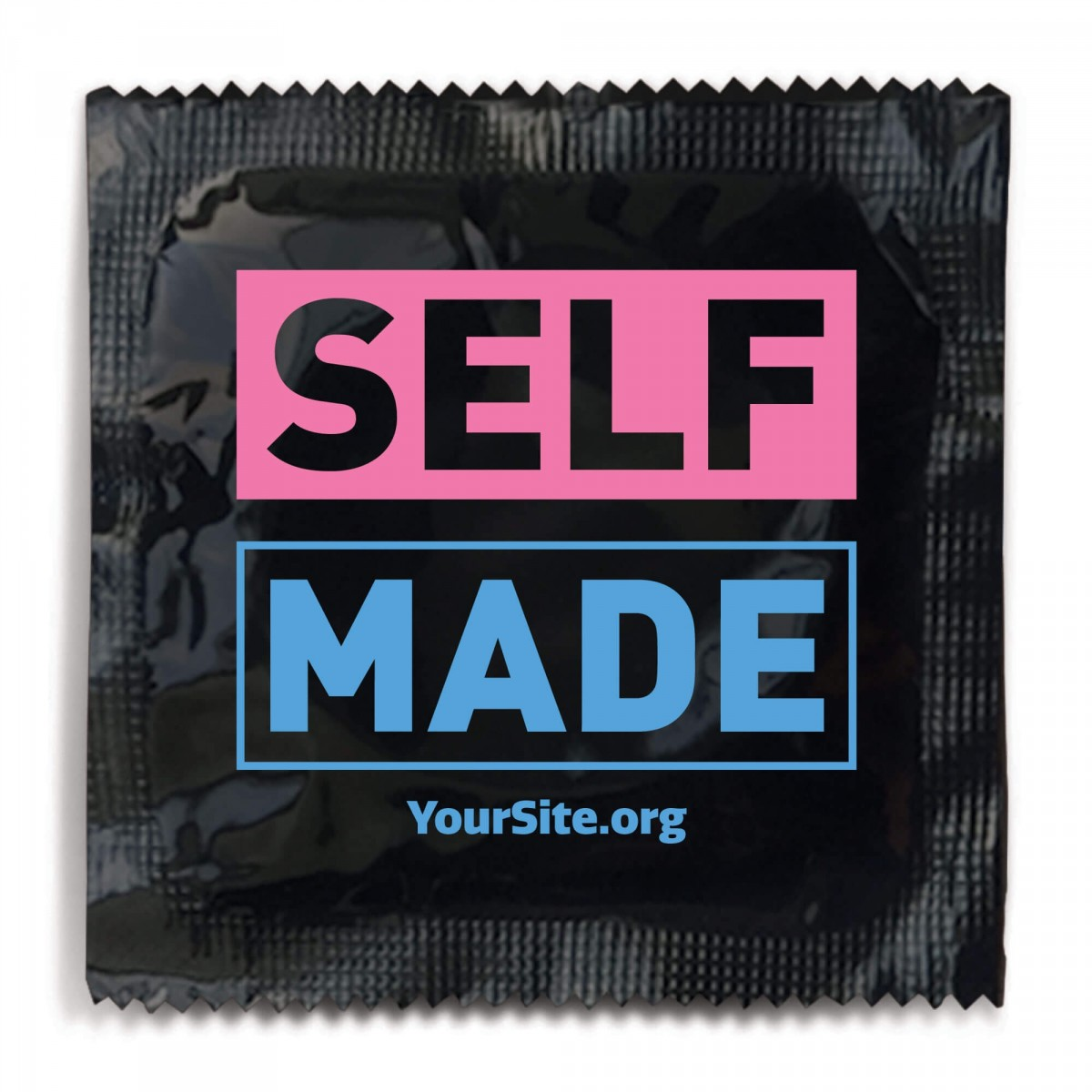 Self Made Transgender Awareness Condom - Black Foil