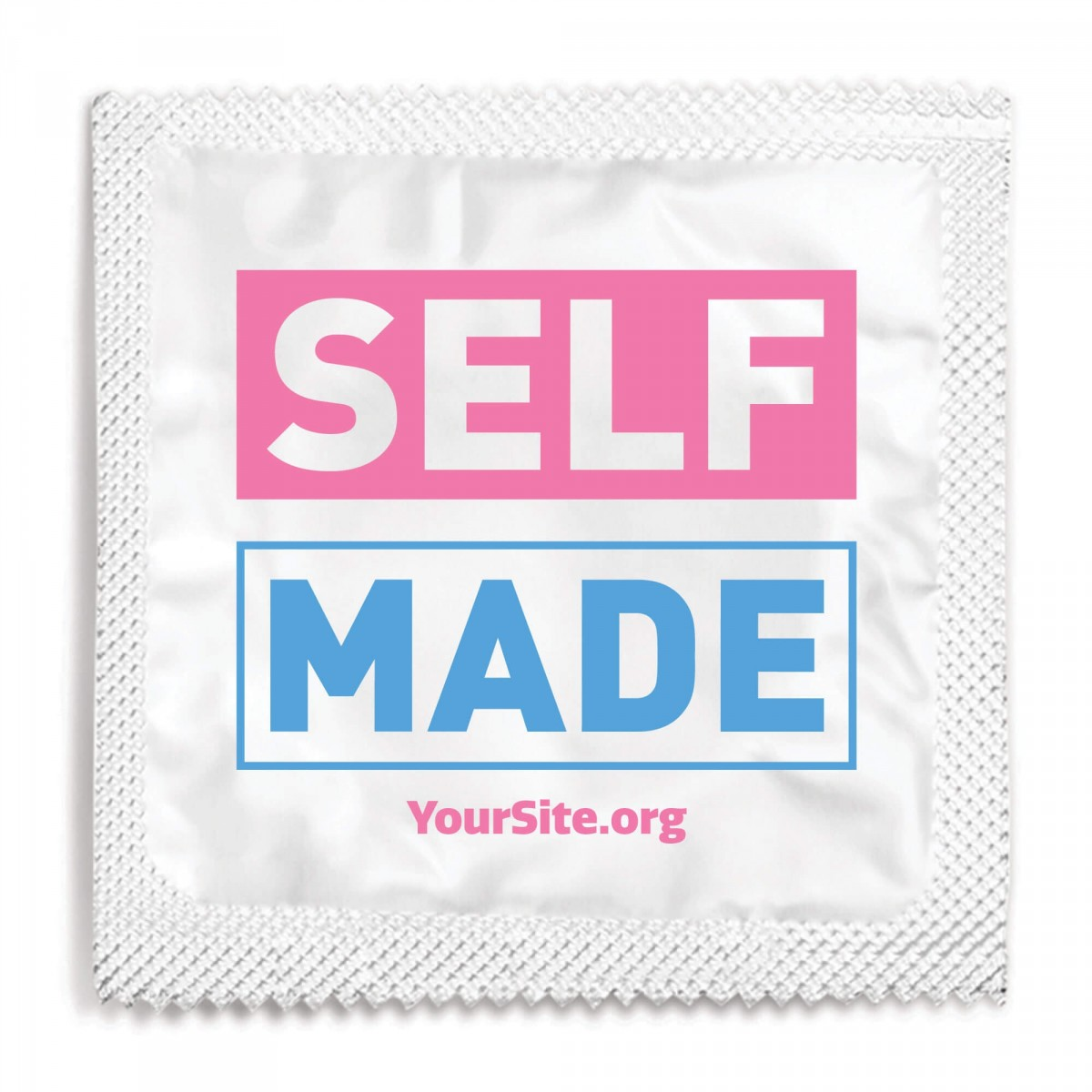 Self Made Transgender Awareness Condom - White Foil