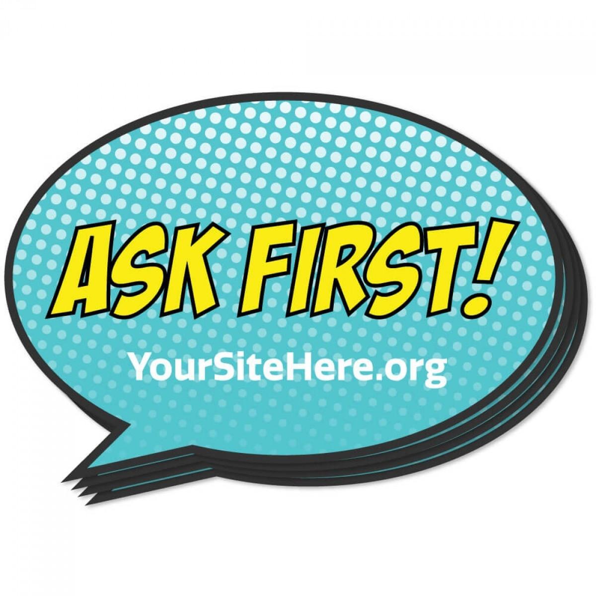 Ask First Sticker