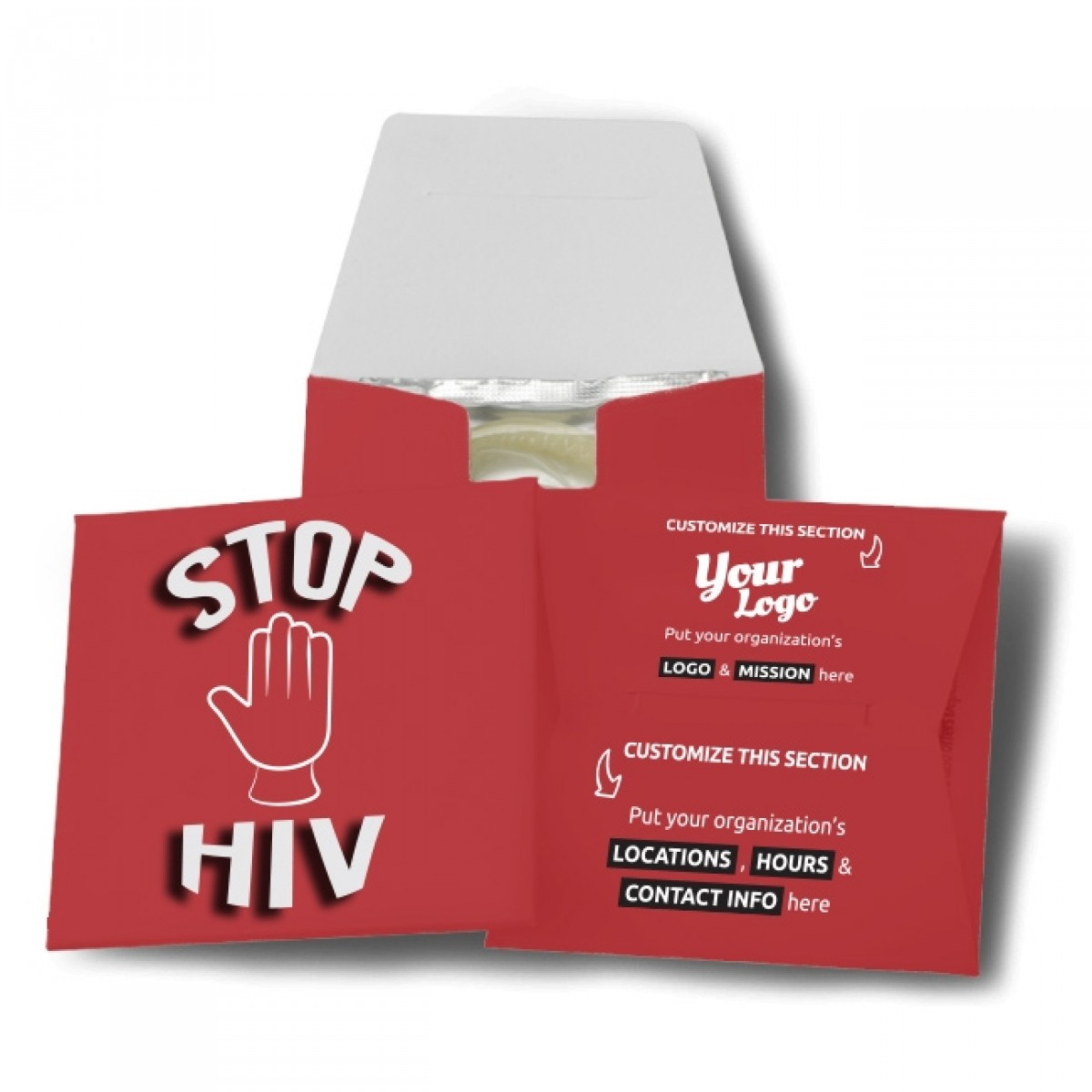 Stop HIV Condom Wallet