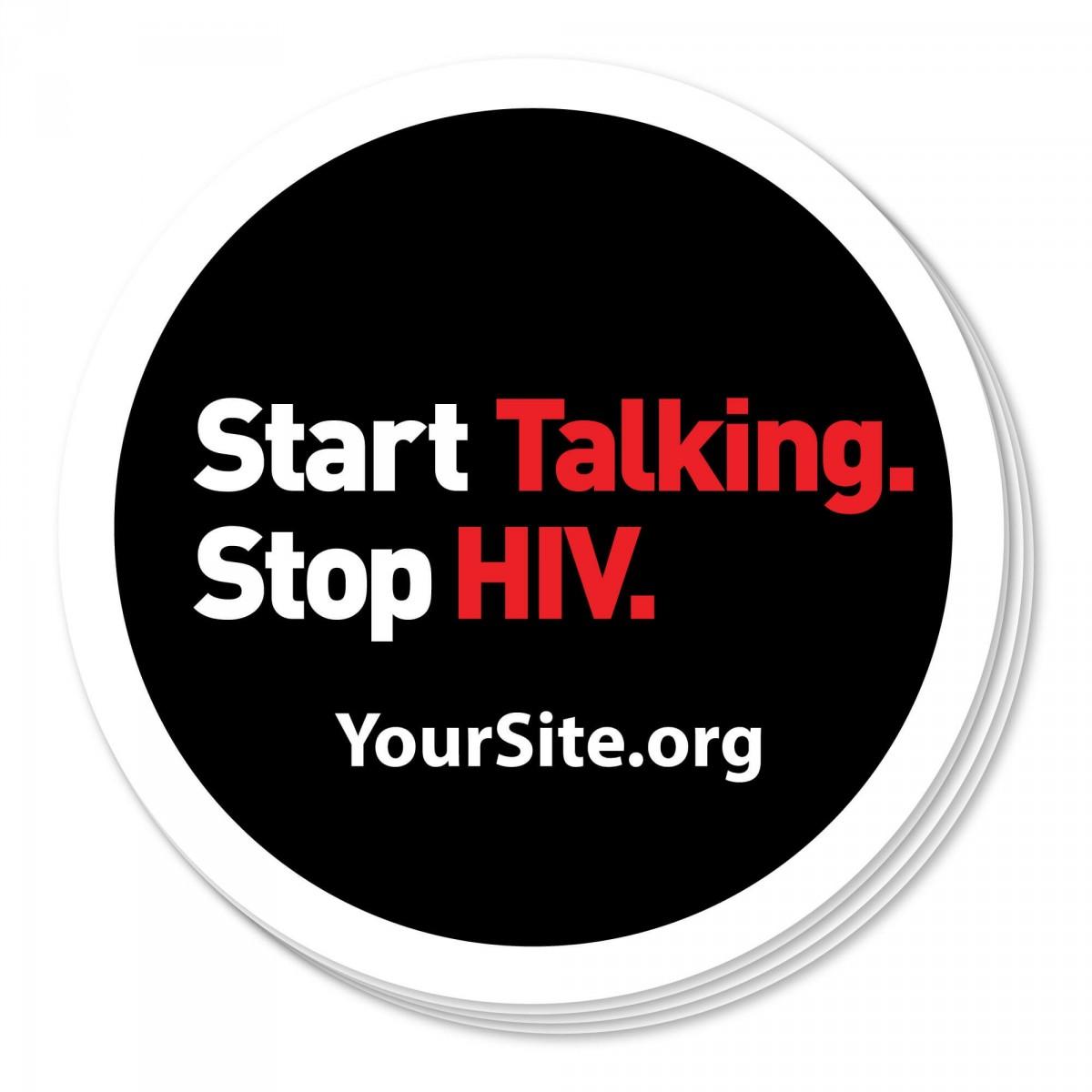Start Talking Stop HIV Sticker