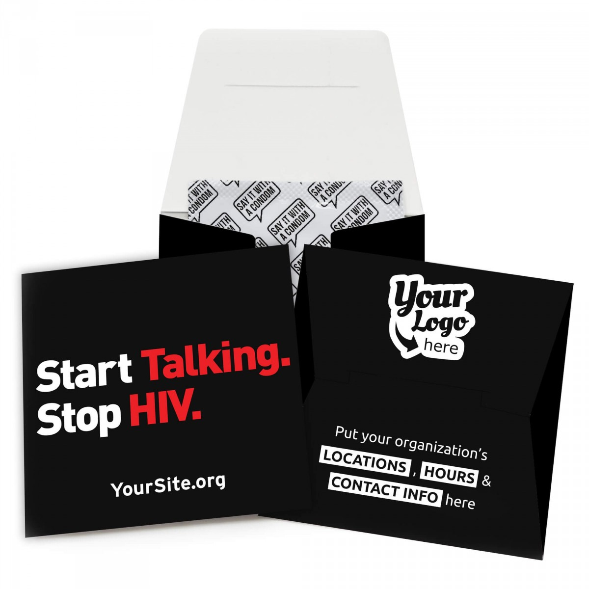 Start Talking Stop HIV Condom Wallet