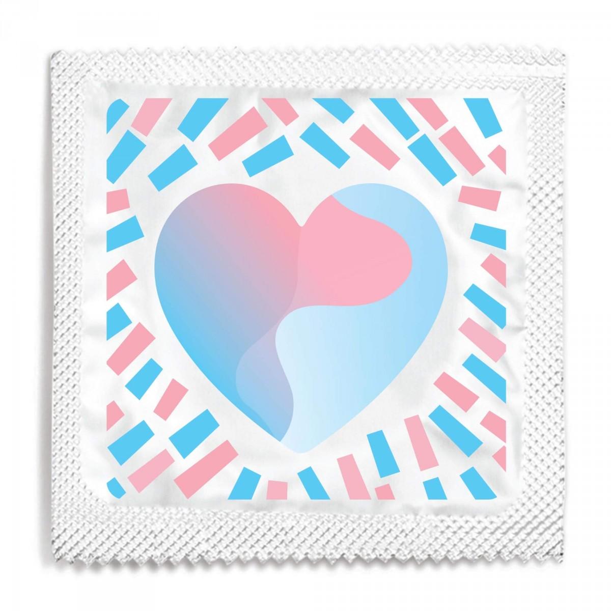 Transgender Pride Heart Condom