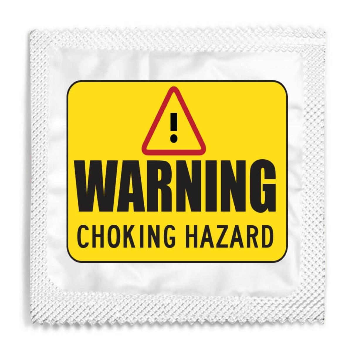 Warning Choking Hazard Condom