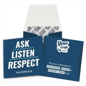 Ask Listen Respect Condom Wallet