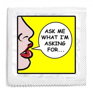 Consent Pop Art Condom