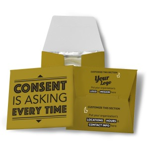 Consent Is Asking Every Time Condom Wallet