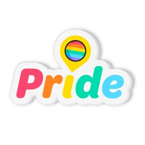 Customizable Pride Balloon Sticker
