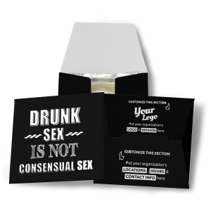 Drunk Sex Is Not Consensual Sex Condom Wallet