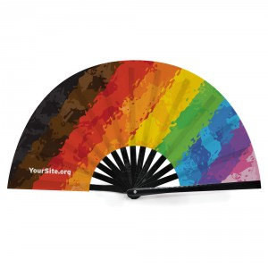 Inclusive Pride Painted Snap Fan