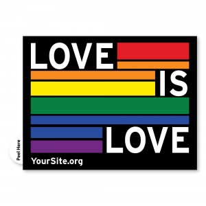 Love Is Love Gay Pride Sticker