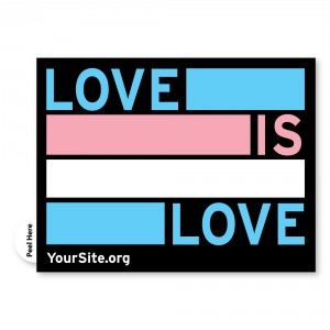 Love Is Love Trans Pride Sticker