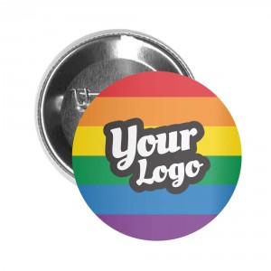 Pride Flag Button Pin