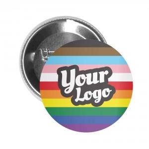 Pride Inclusive Flag Button Pin