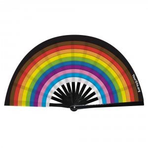 Pride Inclusive Flag Snap Fan