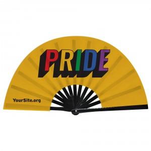 Retro Gay Pride Snap Fan