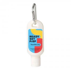 RSP Ready Set PrEP Sunscreen Carabiner