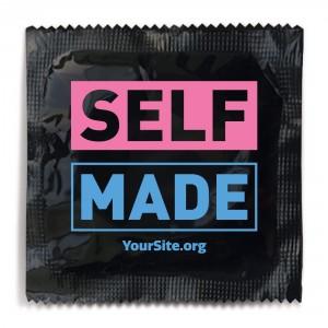 Self Made Transgender Awareness Condom - Black Foil