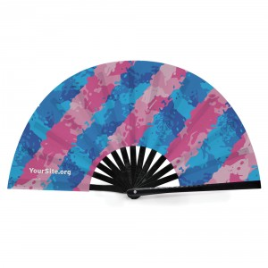 Trans Pride Painted Snap Fan