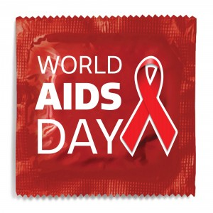 World AIDS Day Red Ribbon Condom - Red