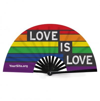 Love Is Love Gay Pride Snap Fan