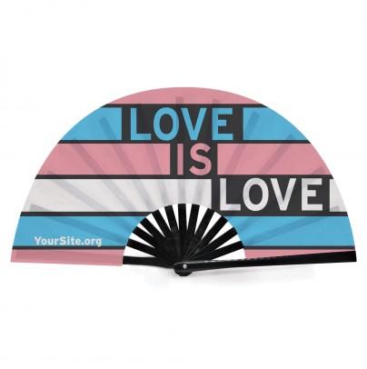 Love Is Love Trans Pride Snap Fan