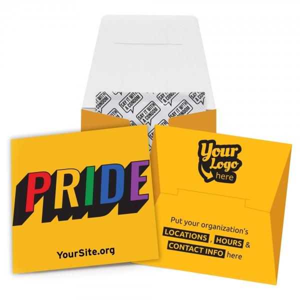 Retro Gay Pride Condom Wallet