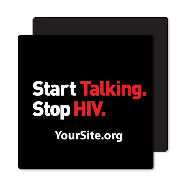 Start Talking Stop HIV Magnet