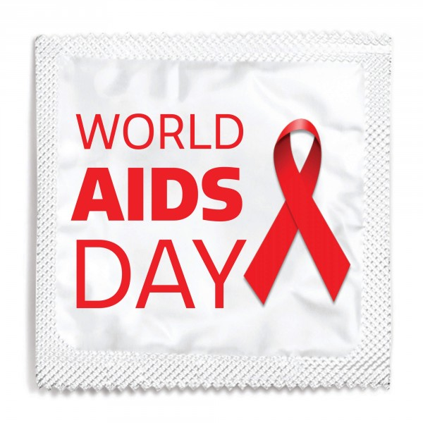 World AIDS Day Red Ribbon Condom - White