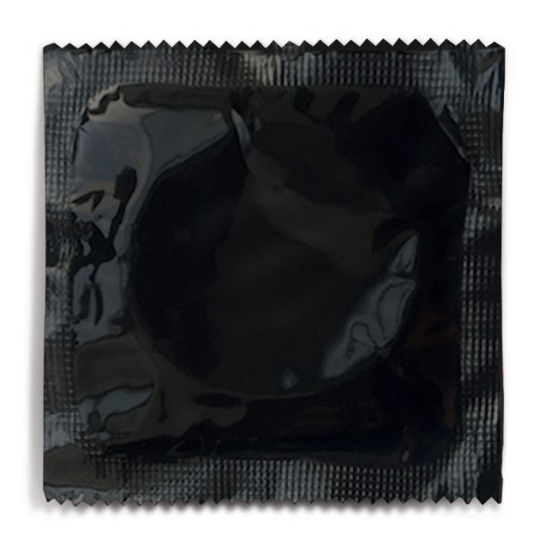 Custom Designed Foil Condom - Black