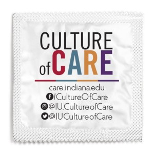 Indiana University's Custom  Condoms for 'Culture of Care'
