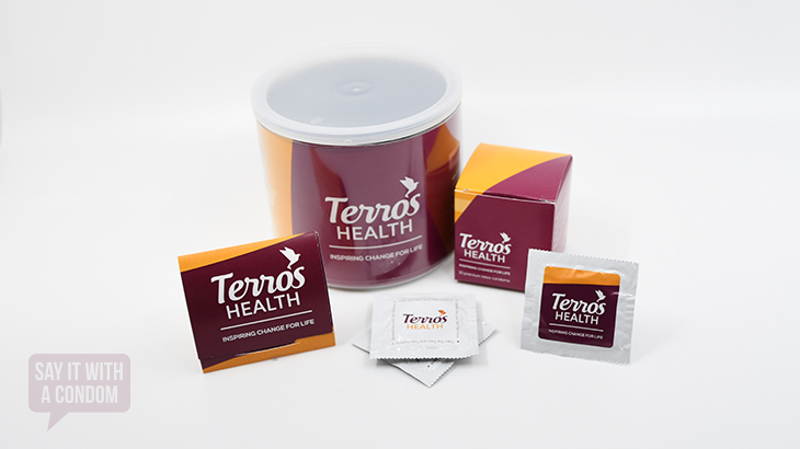 Terros Health Collection of Say It With A Condom Custom Products