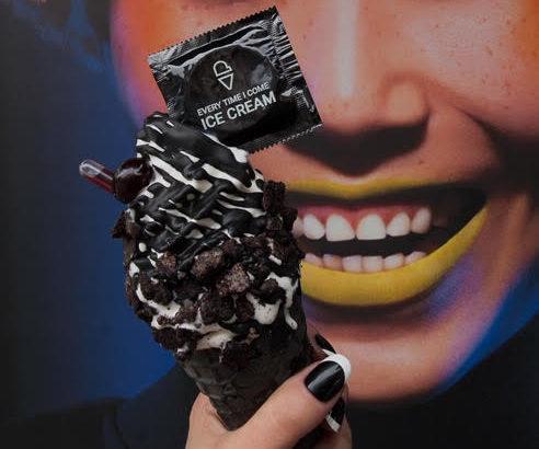 perverted ice cream condom cone i will always glove you