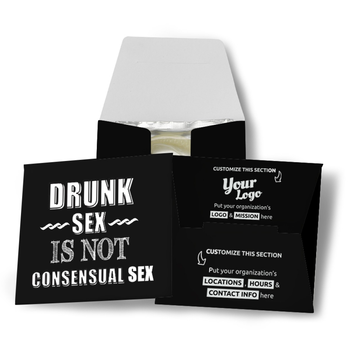 Drunk Sex Is Not Consensual Sex Condom Wallet