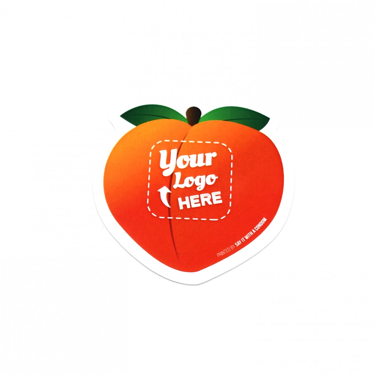 Peach Emoji Die Cut Card