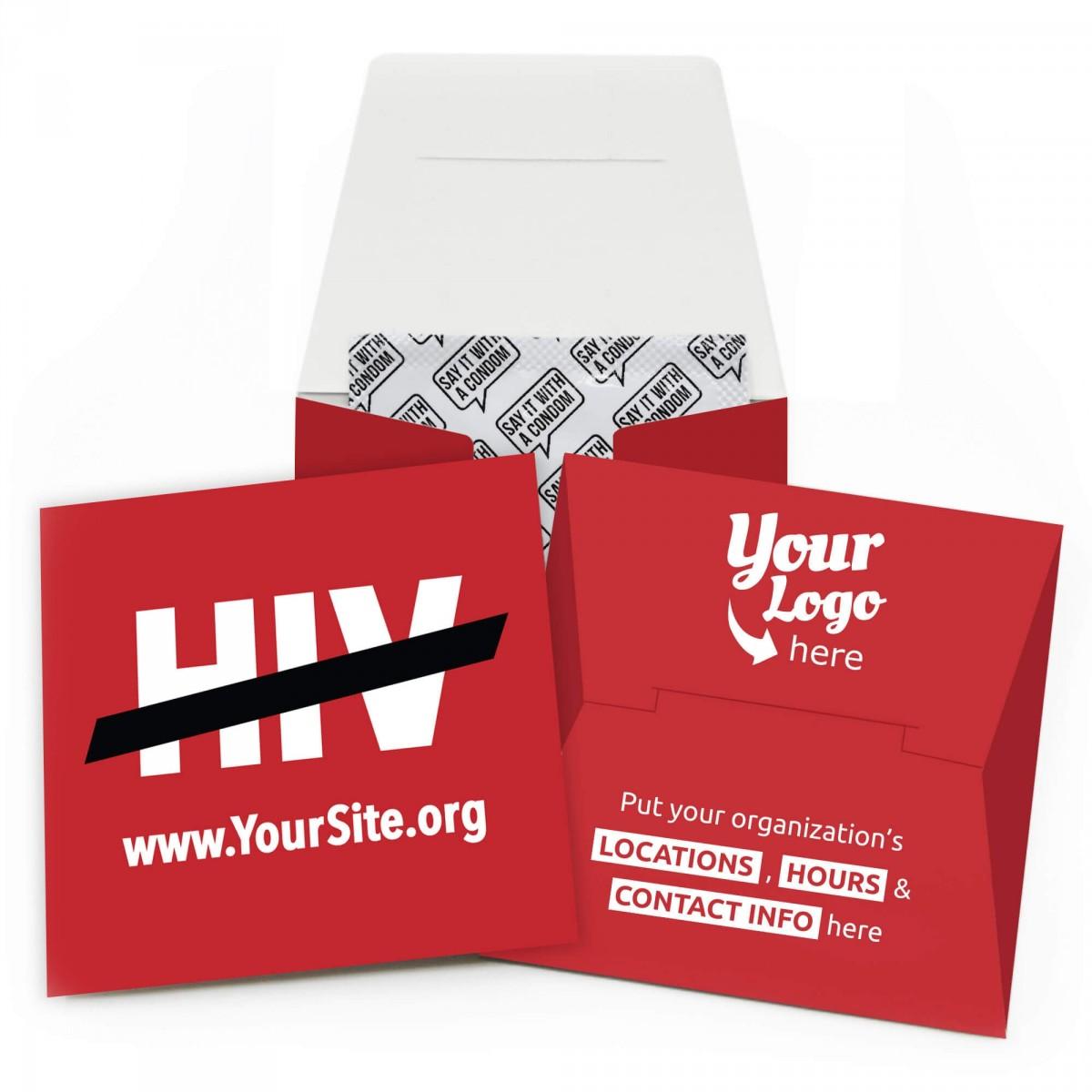 End HIV Condom Wallet