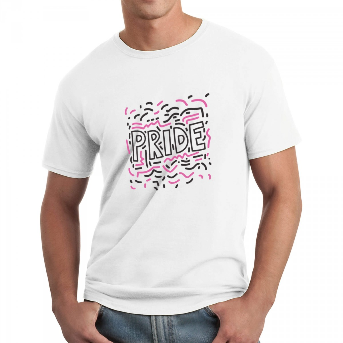 Gay Pride T-Shirt - White