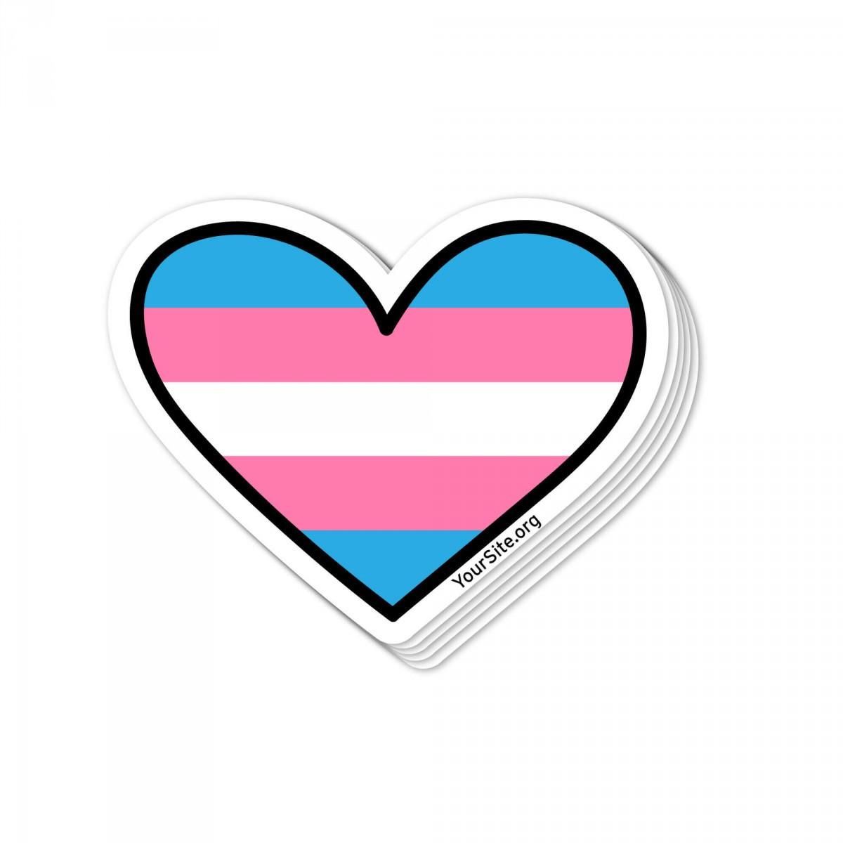 Transgender Heart Sticker