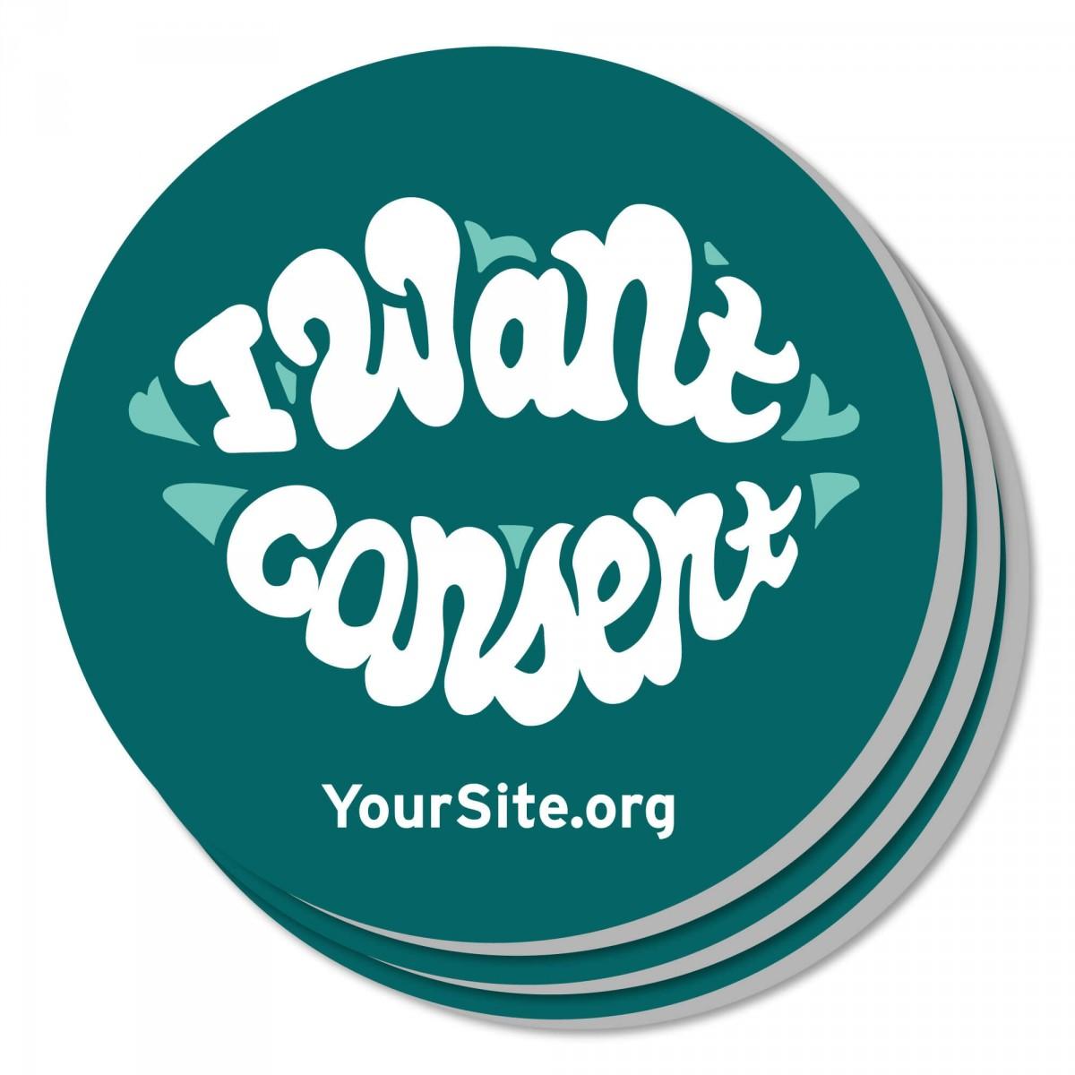 I Want Consent Coaster
