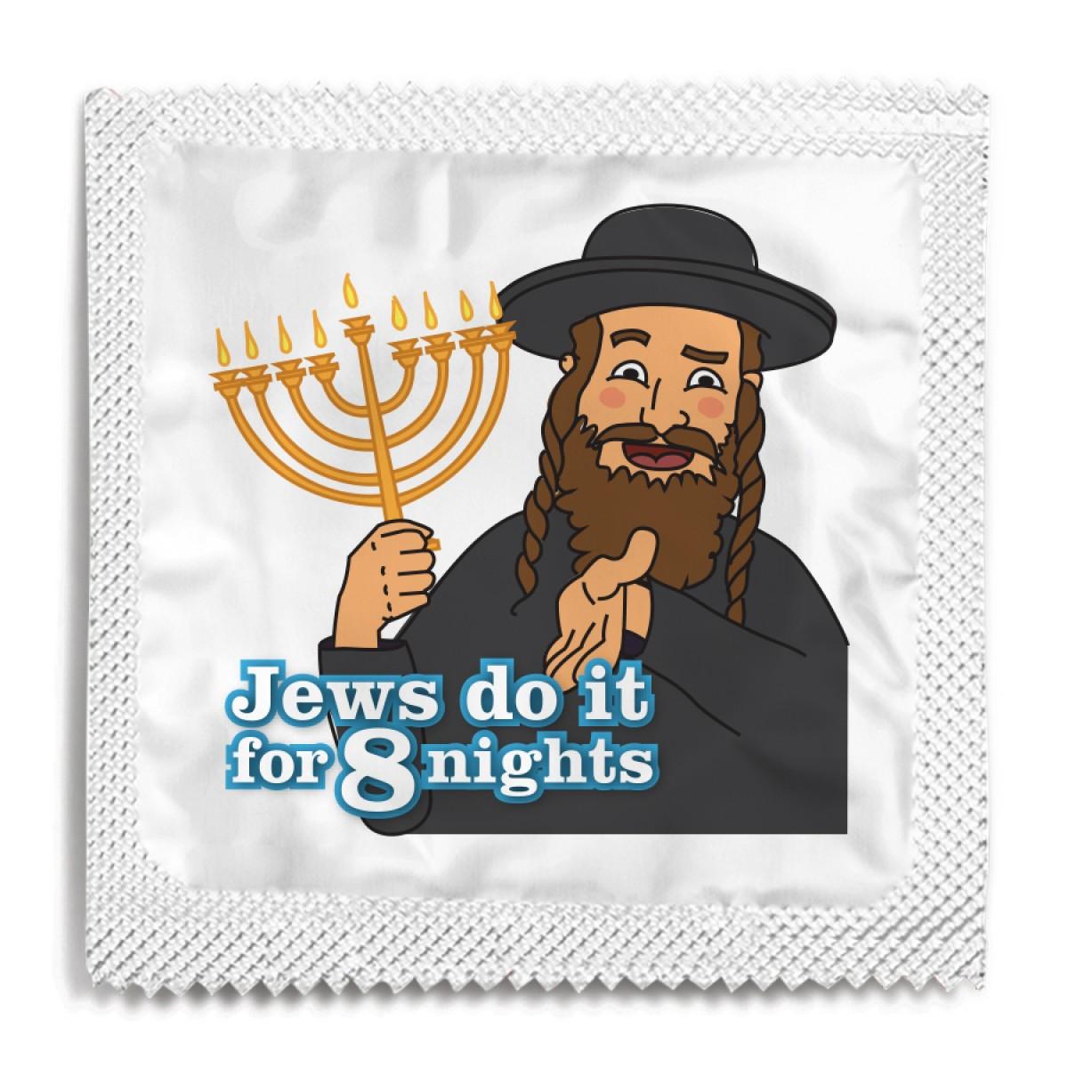 Jews Do It For 8 Nights Hanukkah Condom
