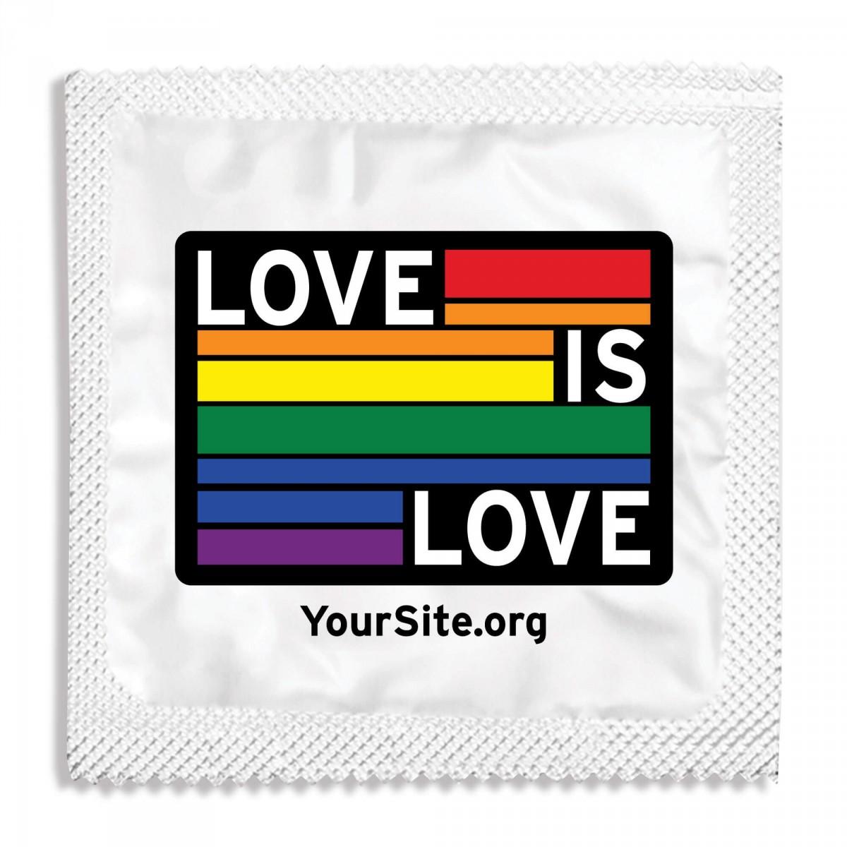Love Is Love Gay Pride Condom