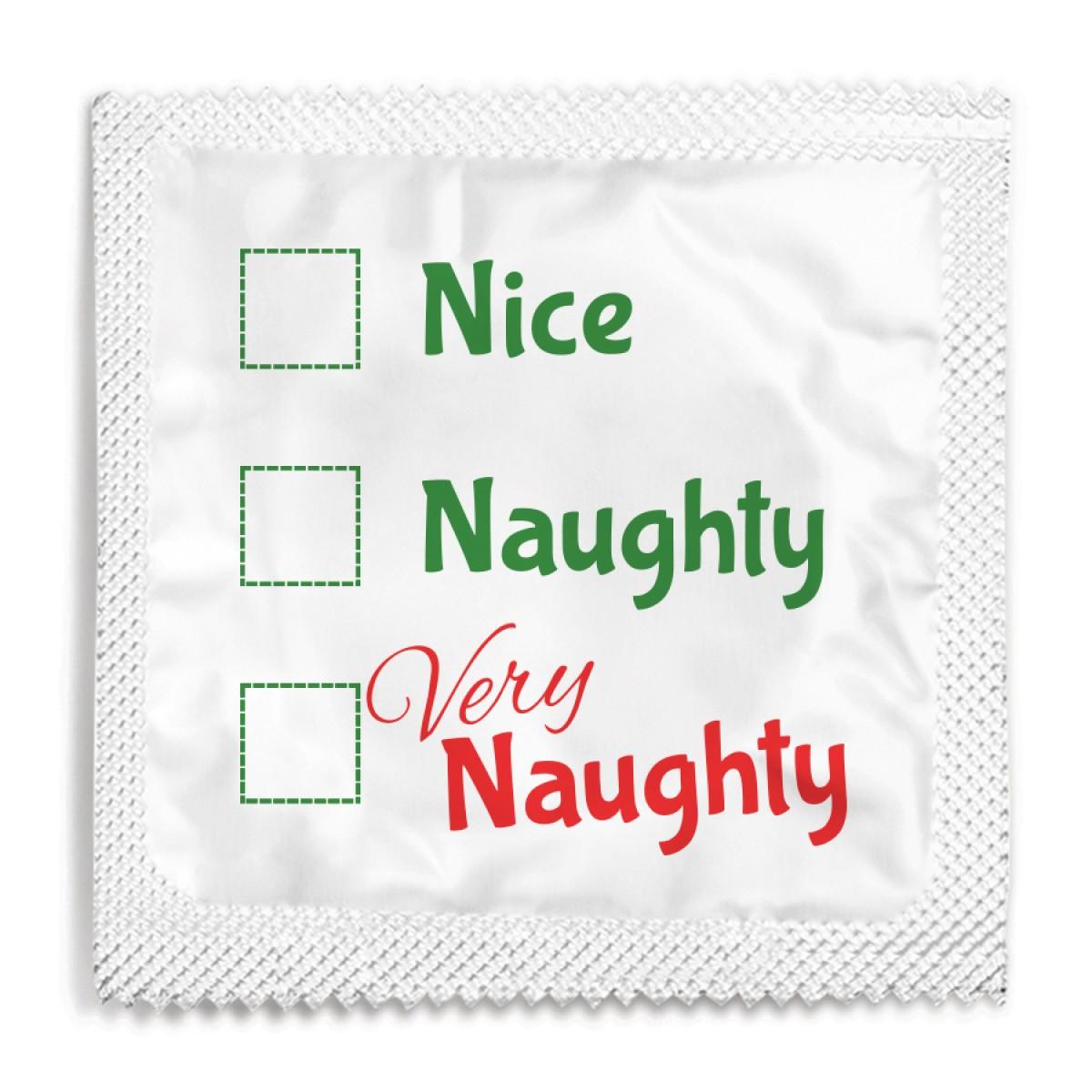 Nice, Naughty, Very Naughty Christmas Condom
